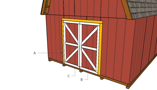 Barn shed double doors plans myoutdoorplans free for Double door shed plans