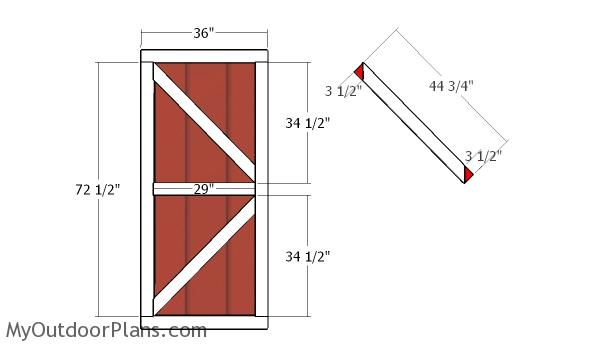 Barn Shed Double Doors Plans Myoutdoorplans Free
