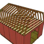 14×16 Gambrel Shed Roof Plans