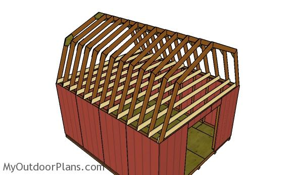 14x16 Gambrel Shed Roof Plans