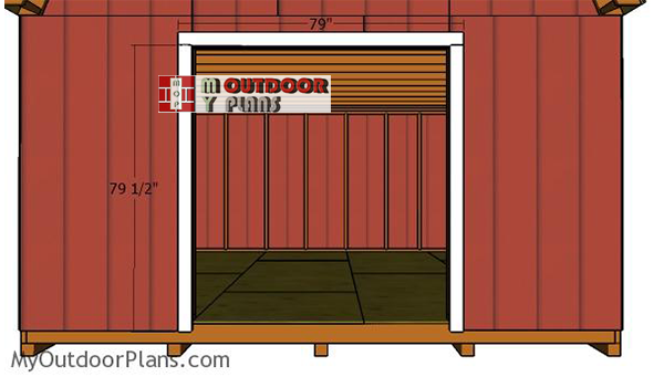 Fitting-the-door-jambs-shed