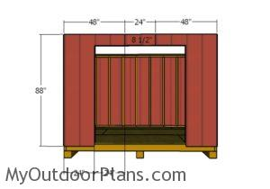 fitting-the-siding-to-the-front-wall