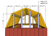 Barn Shed with Porch Roof Plans