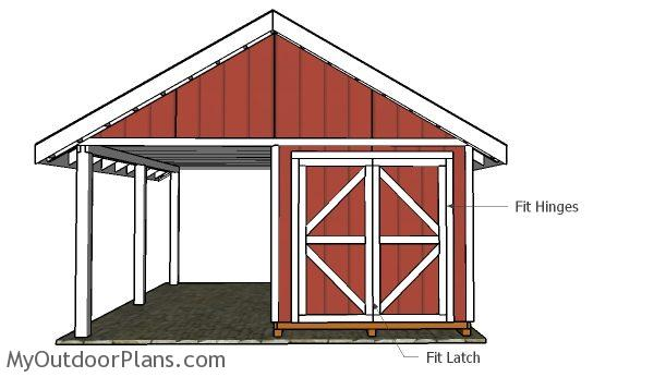 6 39 double shed doors plans myoutdoorplans free for Double door shed plans