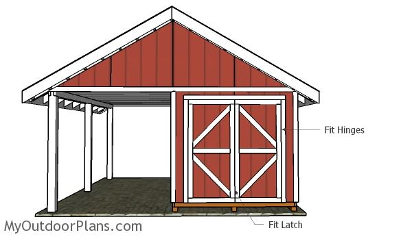 6' Double Shed Doors Plans