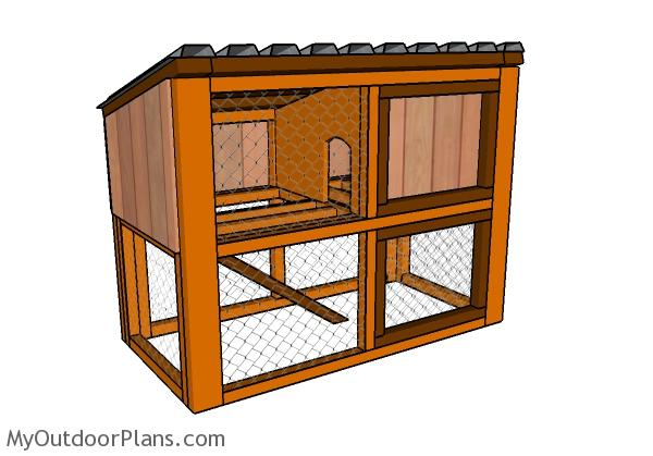 Rabbit House Plans MyOutdoorPlans Free Woodworking Plans and
