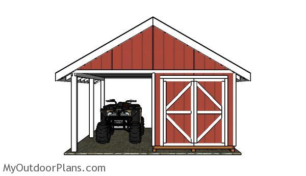 Shed with Porch Plans | MyOutdoorPlans | Free Woodworking Plans and Projects, DIY Shed, Wooden Playhouse, Pergola, Bbq