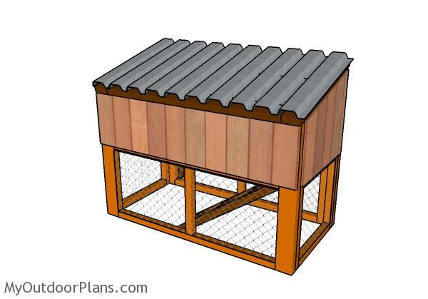 Rabbit house plans myoutdoorplans free woodworking for Wood hutch plans
