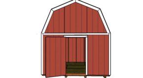 12×12 Barn Shed Door Plans