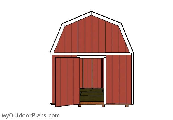 12x12 Barn Shed Door Plans