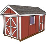 8×16 Gable Shed Plans