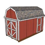 8×16 Gambrel Shed Plans