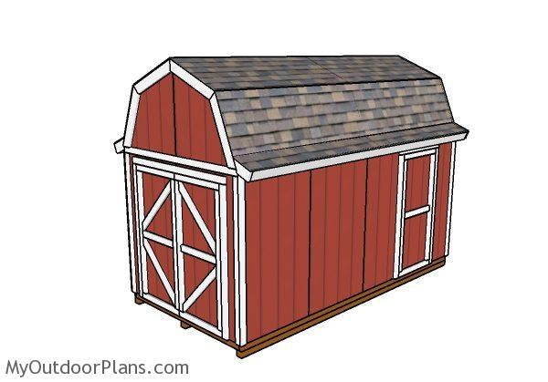 8x16 Gambrel Shed Plans Myoutdoorplans Free