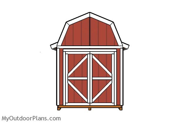 8x16-gambrel-shed-plans-front