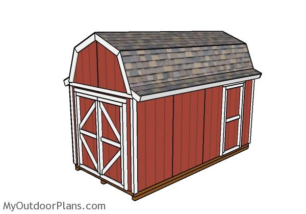8x16 Gambrel Shed Plans