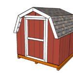 8×8 Short Barn Shed Plans