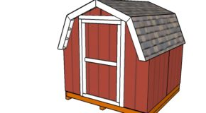 8×8 Short Barn Shed Plans