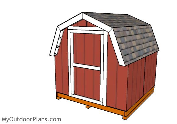 8x8 Short Barn Shed Plans