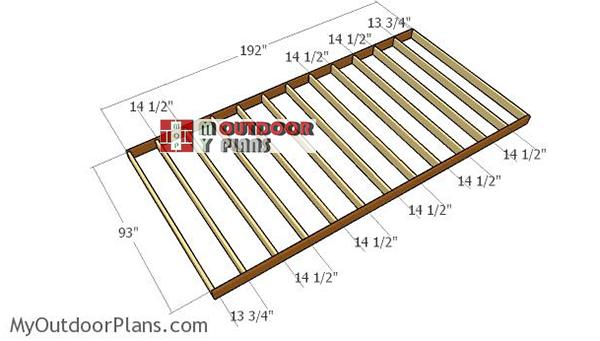 Assembling-the-floor-frame-shed