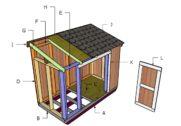 4×8 Short Shed Roof Plans
