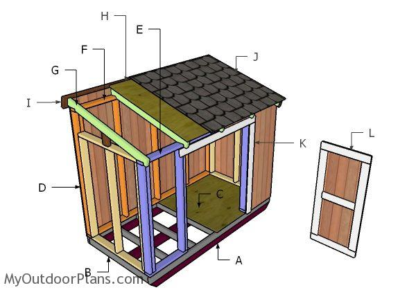 4x8 Short Shed Roof Plans Myoutdoorplans Free