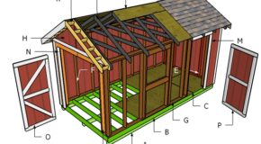 8×16 Gable Shed Roof Plans