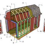 8×16 Gambrel Roof Plans