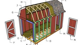 8×16 Gambrel Roof Plans