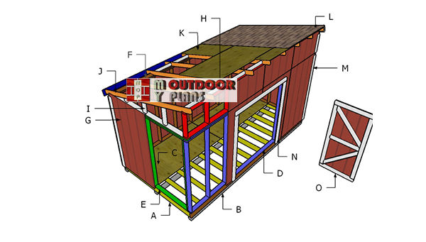 Building-a-8x16-lean-to-shed