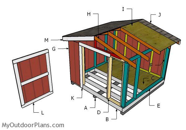 Building a 8x8 short shed with gable roof myoutdoorplans for Build a cupola free plans