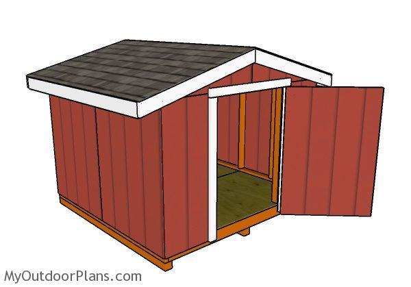8x8 Short Shed Plans Myoutdoorplans Free Woodworking
