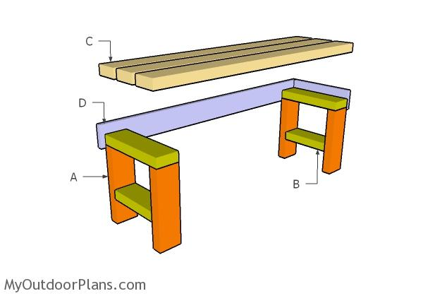 easy to build bench plans myoutdoorplans free woodworking plans
