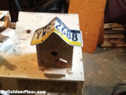 DIY Number Plate Bird House