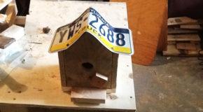 DIY Number Plate Bird House