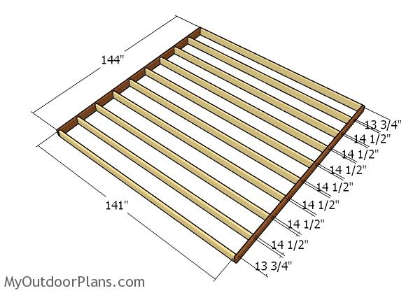 12x12 barn shed plans myoutdoorplans free woodworking for 12x12 deck plans