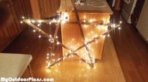 Diy Stick Star with Lights