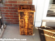 DIY Burned Pallet Planter Box