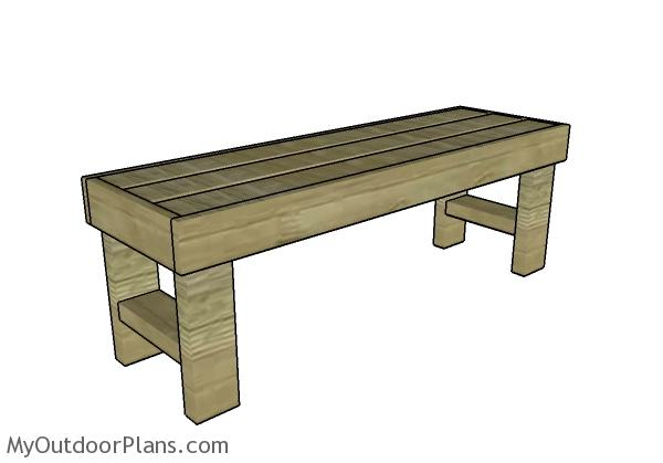 Easy to build bench plans myoutdoorplans free woodworking plans easy to build bench plans solutioingenieria Image collections
