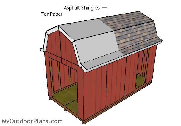 8x16 Gambrel Roof Plans Myoutdoorplans Free