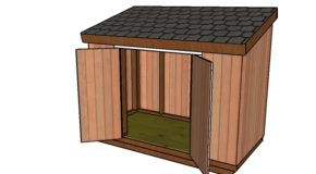 4×8 Short Shed with Lean to Roof Plans