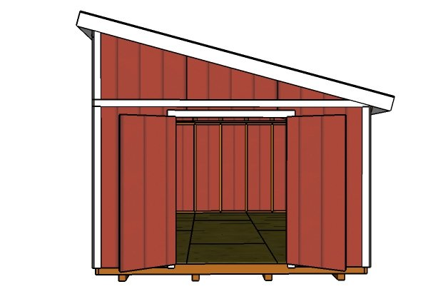 12x16 Lean to Shed Plans | MyOutdoorPlans | Free Woodworking