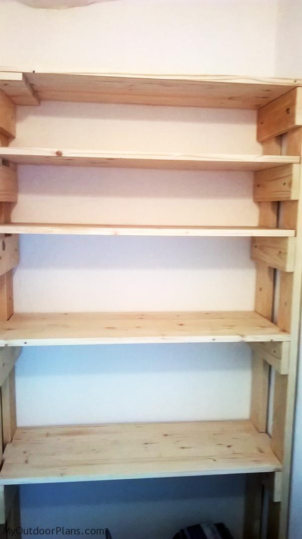 DIY Wood Garage Shelves