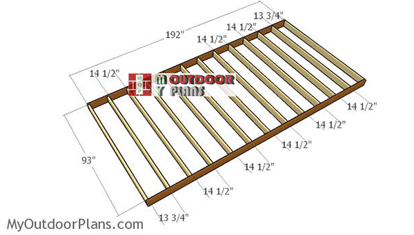 Assembling-the-floor-frame-for-8x16-shed