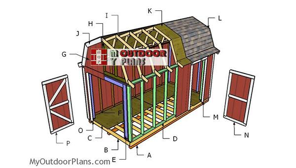 Building-a-8x16-gambrel-shed