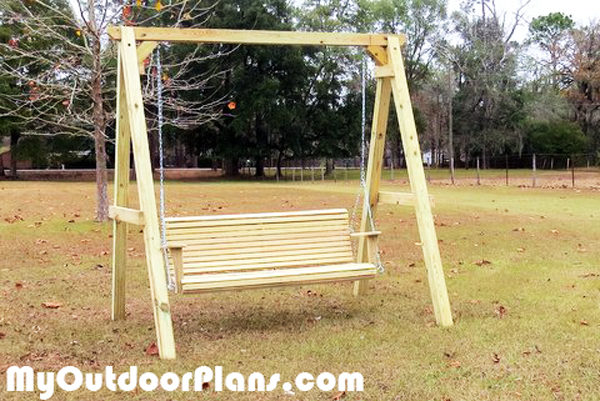 DIY Wood A-frame Swing   MyOutdoorPlans   Free Woodworking ...
