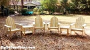 DIY Adirondack Chairs with Tables