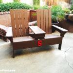 DIY Double Adirondack Chair Bench