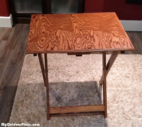 DIY Folding TV Tray | MyOutdoorPlans | Free Woodworking ...