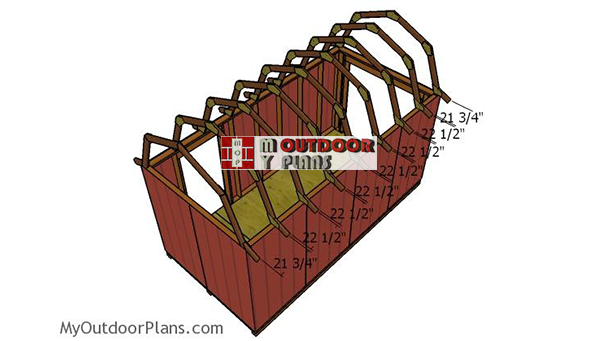 Fitting-the-gambrel-trusses
