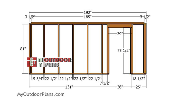 Front-wall-frame---8x16-shed